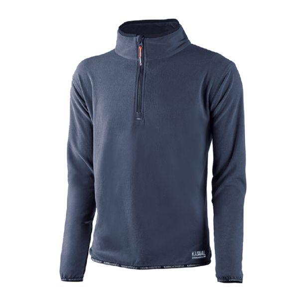 Jersey Artic 100% poliéster forro polar, 60 grm color azul marin. T/XL