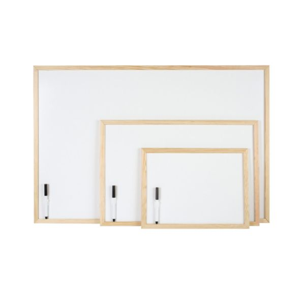 Pizarra blanca 60x40. Con marco.