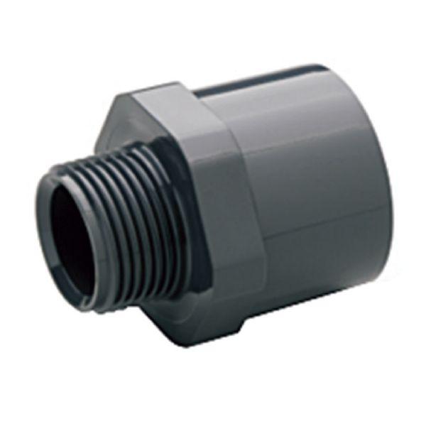 """TERMINAL ROSCA MACHO PVC encolar y roscar D. 50 x 1½'' (50 x 63 x 1 1/2 """")"""